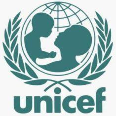 Sigla Unicef, imaginea unui copil si a unei mame