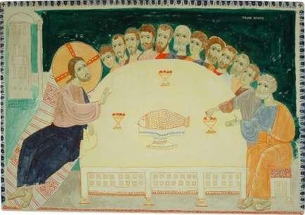 Cina cea de Taina icoana modernaTodor Mitrovic