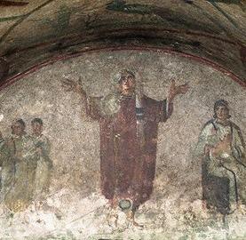 Catacombe romane Femeia in trei ipostaze, ca sotie, ca mama si ca rugatoare