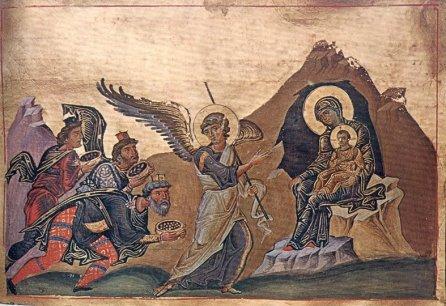 Inchinarea Magilor Menologiul imparatului Vasile II Sec. X