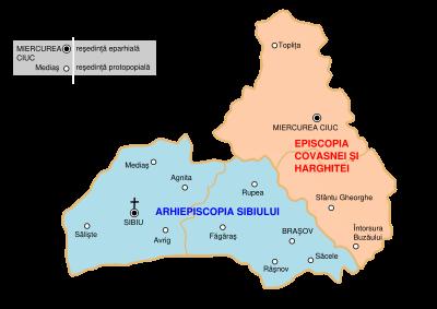 Mitropolia Ardealului, episcopia Covasnei si Harghitei
