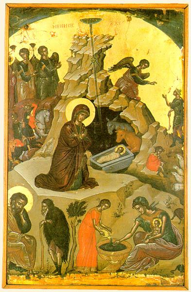 Icoana Nasterii Domnului bizantina