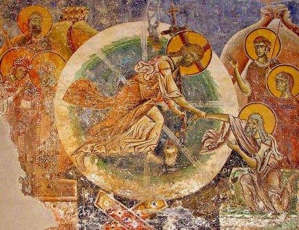 Fresca Trecerii, adica a Invierii la biserica Sf Gheorghe de langa Kumanovo