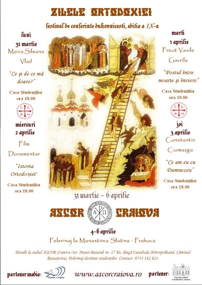 Festivalul de conferinte duhovnicesti Zilele Ortodoxiei 2008 ASCOR Craiova