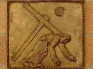 A doua cadere a lui Iisus cu crucea Via dolorosa