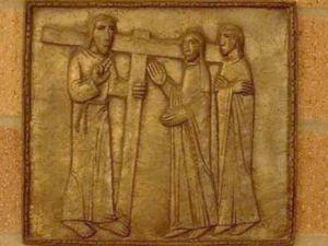 Iisus vorbeste cu femeile Ierusalimului care Il plangeau pentru patimire Via dolorosa