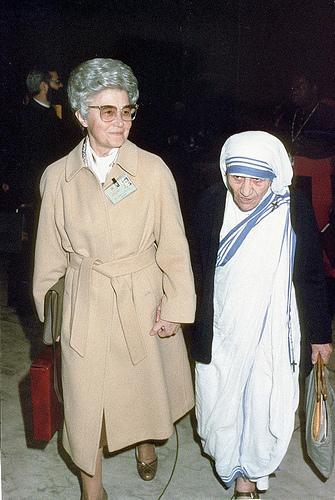 Chiara Lubich impreuna cu Maica Tereza