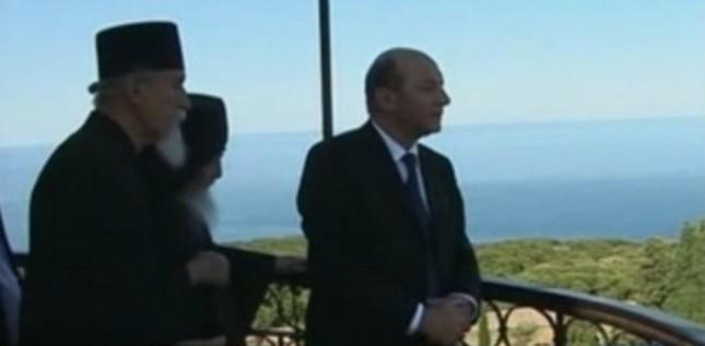 Traian Basescu la Prodromu Athos 4