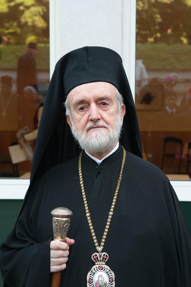 Mitropolitul Ioannis Zizioulas de Pergam. Co-presedinte al Comisiei din partea Bisericii Ortodoxe